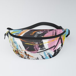 abstract burst, brash stroke, happy, colourful Fanny Pack