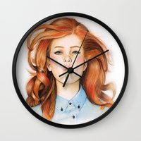 ginger Wall Clocks featuring Ginger by Sugar Doll