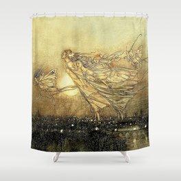 """Fairies in Kensington Gardens"" by Arthur Rackham Shower Curtain"