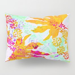 Tropical Adventure - Neon Orange, Pink and Mint Pillow Sham