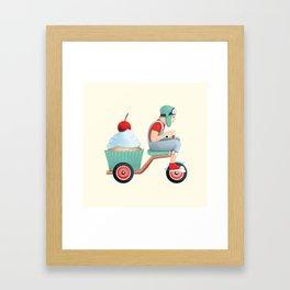 sweet on the way Framed Art Print