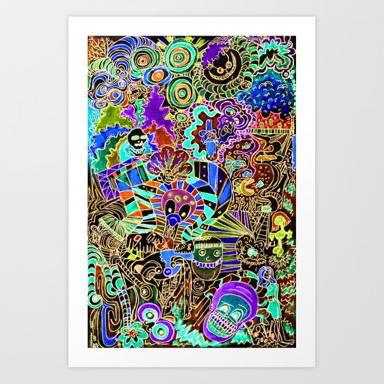 FLIPPIN FUNHOUSE Art Print