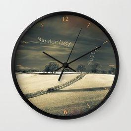 I Wander because... Wall Clock