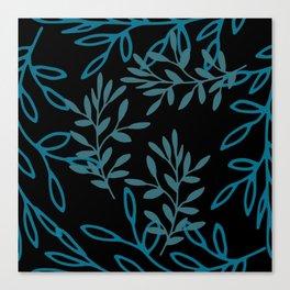 Leafy Teal Canvas Print