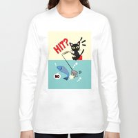 fishing Long Sleeve T-shirts featuring Fishing by BATKEI