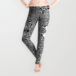 Abstract black and white background Leggings