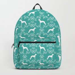 Italian Greyhound floral silhouette dog breed gifts minimal dog pattern art Backpack
