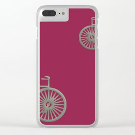 rose pink fushia Clear iPhone Case