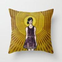 dress Throw Pillows featuring Dress by Filip Postolache
