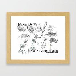 Hands and Feet Framed Art Print