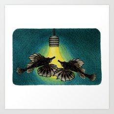 Sea Moths Art Print
