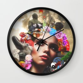 CHINESE HAIRSTYLE Wall Clock