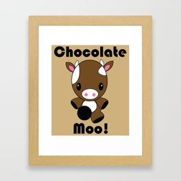 Chocolate Moo! Framed Art Print