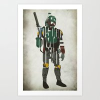 boba fett Art Prints featuring Boba Fett by Ayse Deniz
