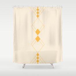 Minimal Geometry - Golden Shower Curtain
