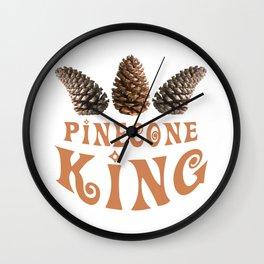 Pine cone king Wall Clock