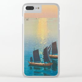 Glittering Sea (Hikaru Umi) Hiroshi Yoshida Modern Japanese Woodblock Print Clear iPhone Case