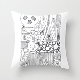Skulls & Buddha No. 25 Throw Pillow