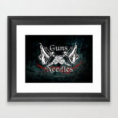 guns 'n' needles Framed Art Print