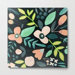 Floral Mood Metal Print