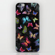 Butterfly Forest {black} iPhone & iPod Skin