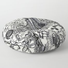 Black/White #2 Floor Pillow