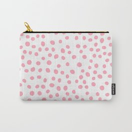 Hot Pink doodle dots Carry-All Pouch