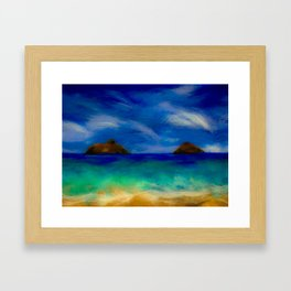 Tale of Two Islands Framed Art Print