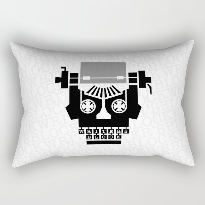 Writer's Block II Rectangular Pillow