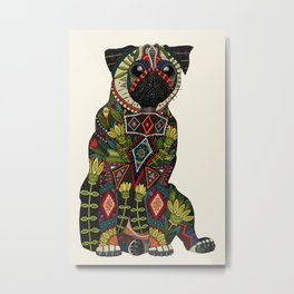 pug love ivory Metal Print