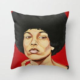 "Angela Davis ""Revolutionary"" Throw Pillow"