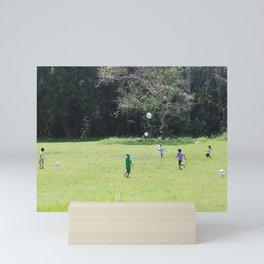 amazonian soccer match Mini Art Print