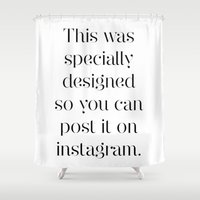 instagram Shower Curtains featuring Instagram by Max Croissant