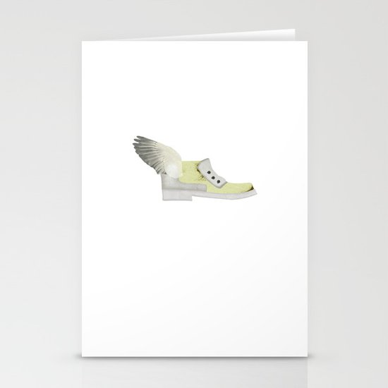 Flying shoe Stationery Cards