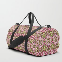 Delicate Floral Stripes Duffle Bag