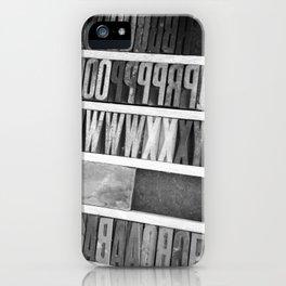 #136Photo #149 #LetterPress #Textures #BlackAndWhite iPhone Case