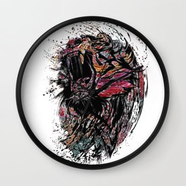 The Lion King Colorful Big Cat Face Design Wall Clock