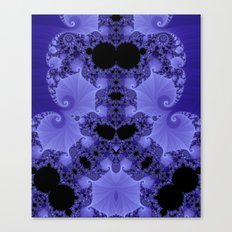 Fabulous Fractals - Blue Shells Canvas Print