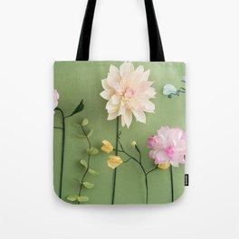 Crepe paper flowers Tote Bag