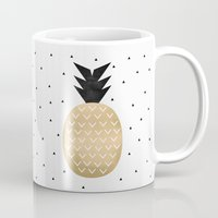 pineapple Mugs featuring Pineapple by Elisabeth Fredriksson