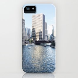 Magic Hour Downtown, Chicago River iPhone Case