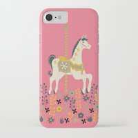 carousel iPhone & iPod Cases featuring Carousel by Prelude Posters