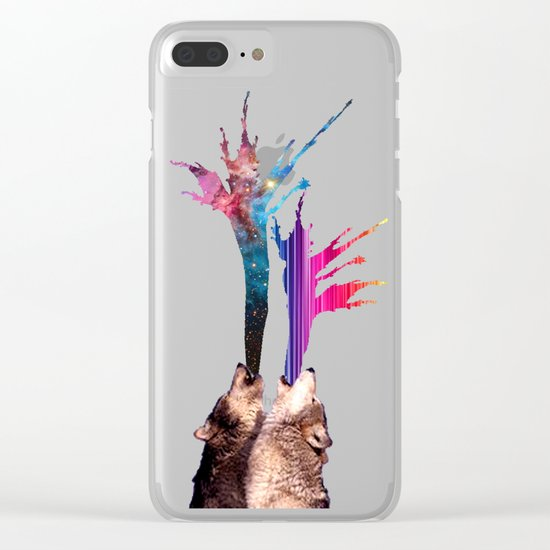 wolves howling Clear iPhone Case