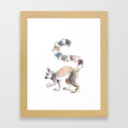 Splotchy Lemur Framed Art Print