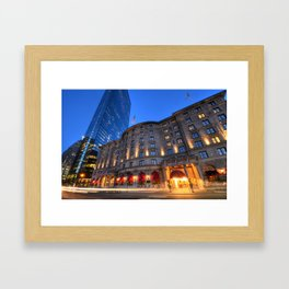 John Hancock Tower Fairmont Copley Plaza Boston MA Framed Art Print
