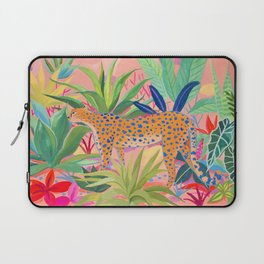 Leopard in Succulent Garden Laptop Sleeve