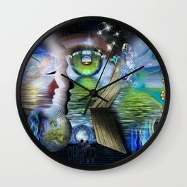 The Language of Light Wall Clock