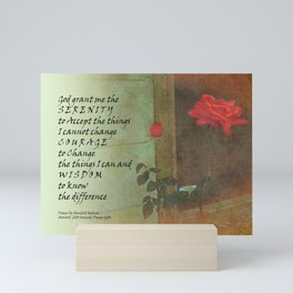 Serenity Prayer Rose and Door Mini Art Print