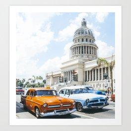 Old timers in Havana | Cuba Travel | Photography Print Art Print