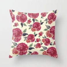 Antique Floral Throw Pillow